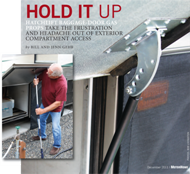 HOLD IT UP: Motor Home magazine